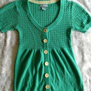 Green Girls Cardigan Sweater